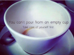 Turke empty cup